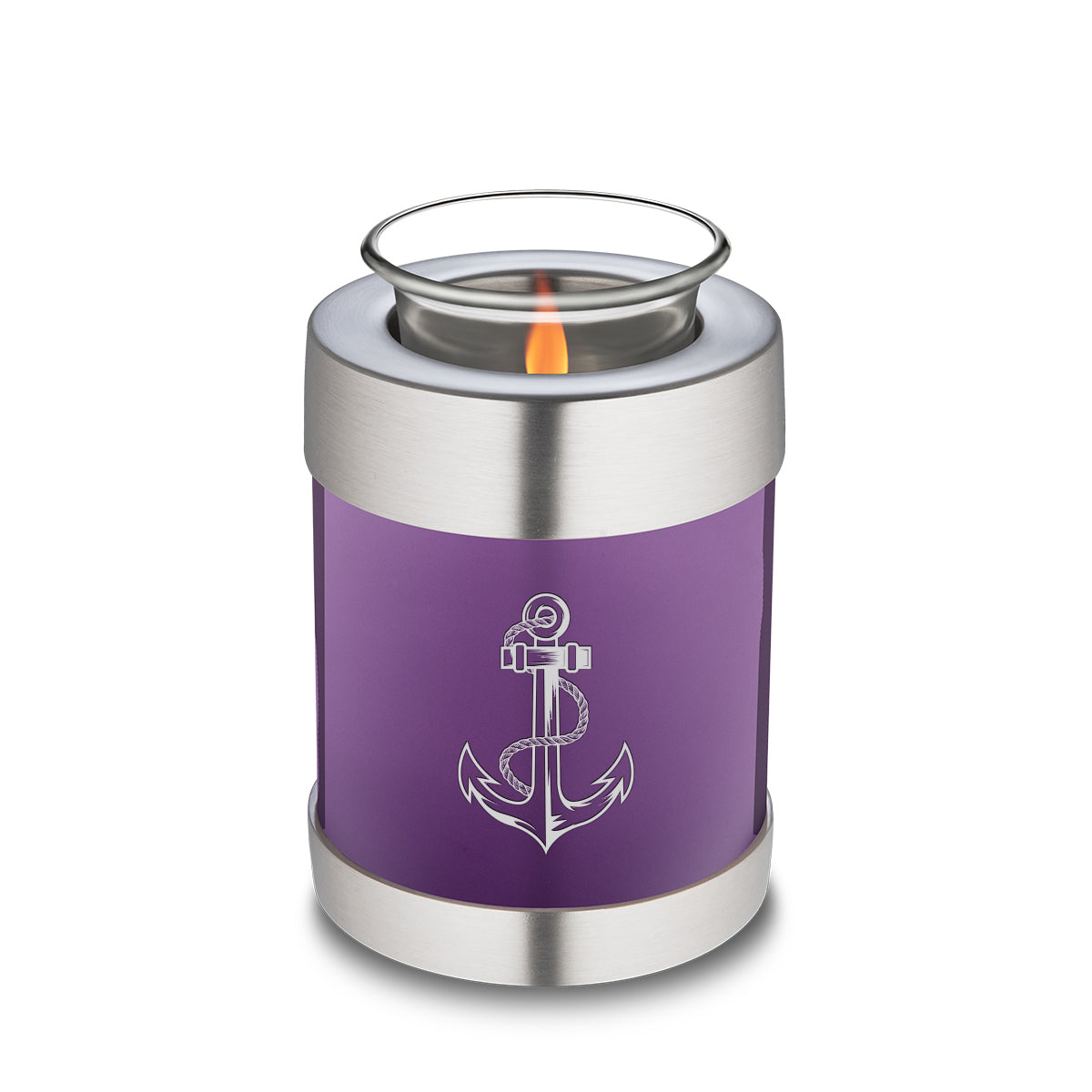 Candle Holder Embrace Purple Anchor Cremation Urn