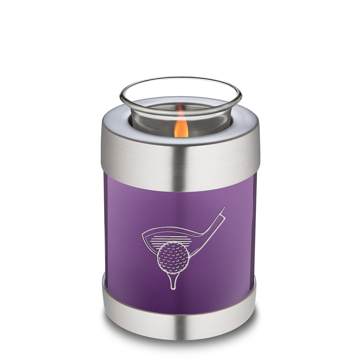Candle Holder Embrace Purple Golf Cremation Urn