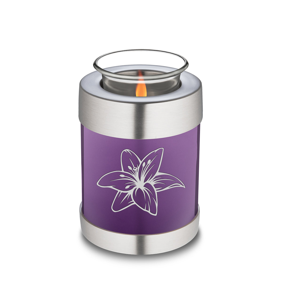 Candle Holder Embrace Purple Lily Cremation Urn