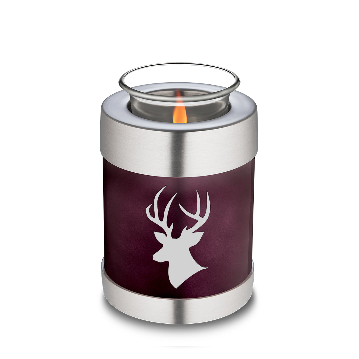 Candle Holder Embrace Cherry Purple Deer Cremation Urn