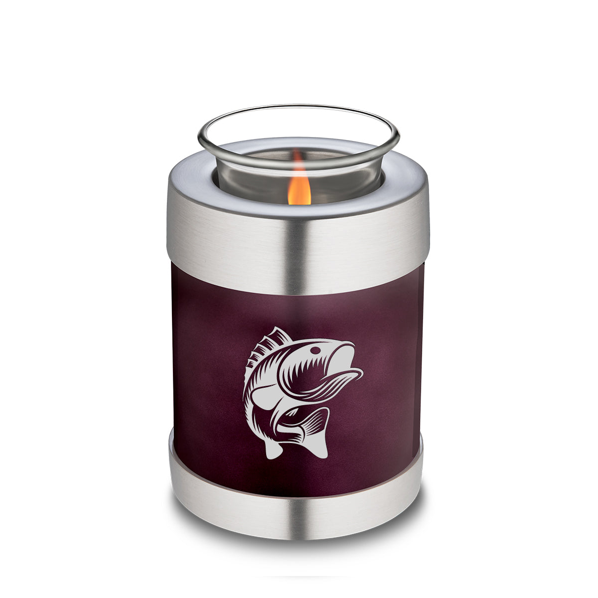 Candle Holder Embrace Cherry Purple Fishing Cremation Urn