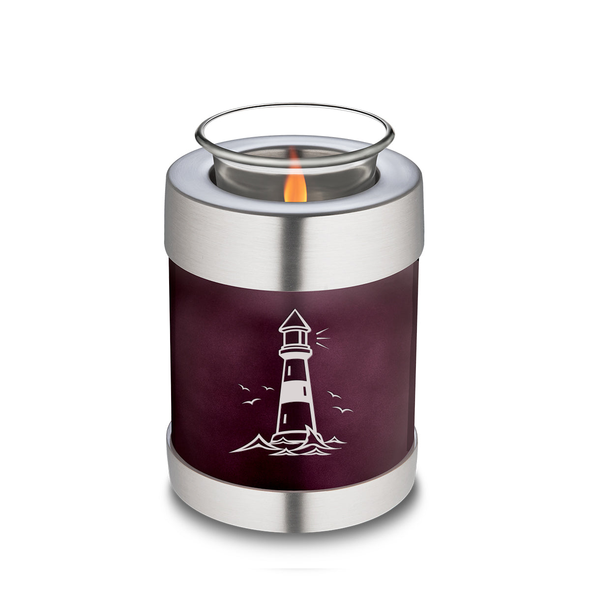 Candle Holder Embrace Cherry Purple Lighthouse Cremation Urn
