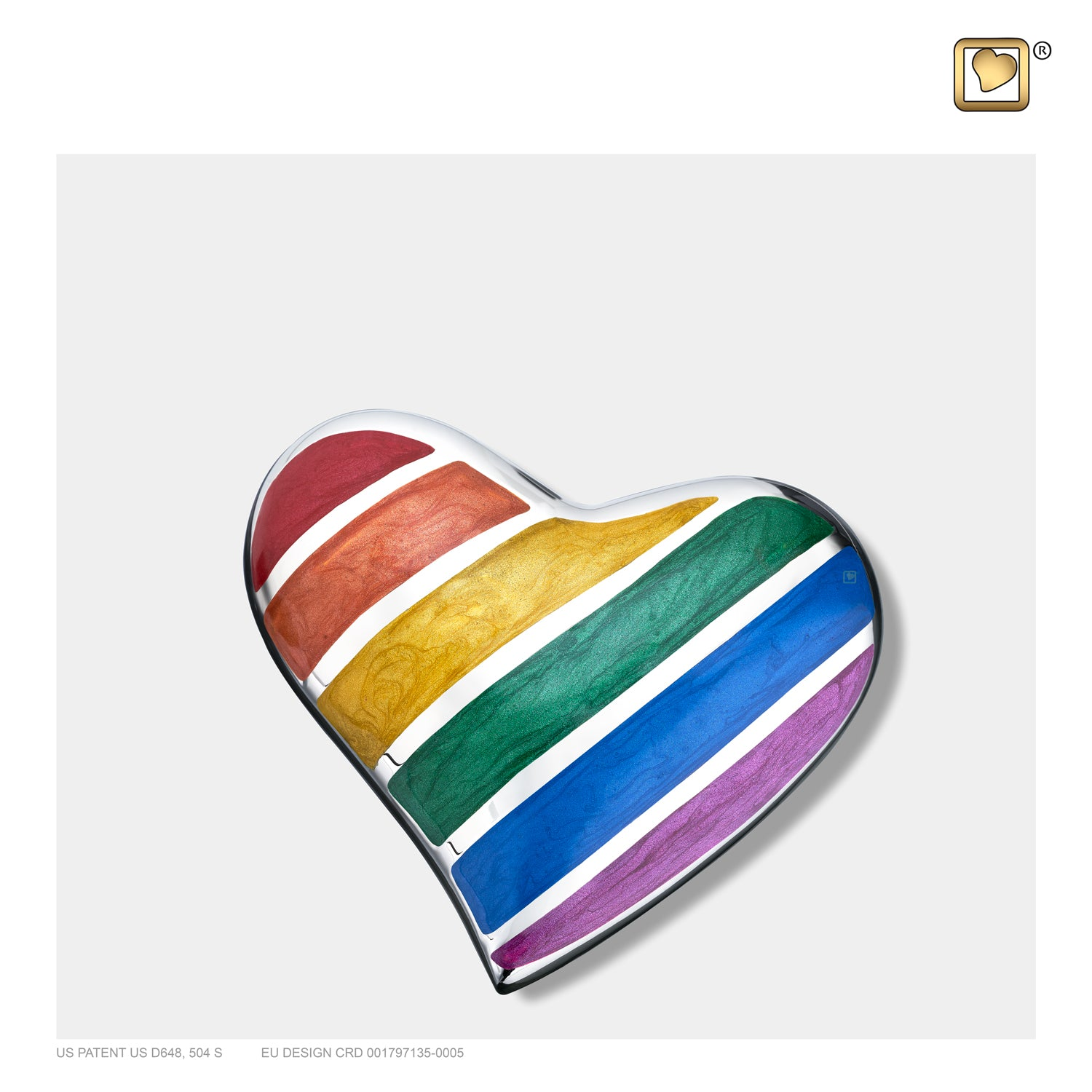 Pride Rainbow Heart Keepsake Cremation Urn