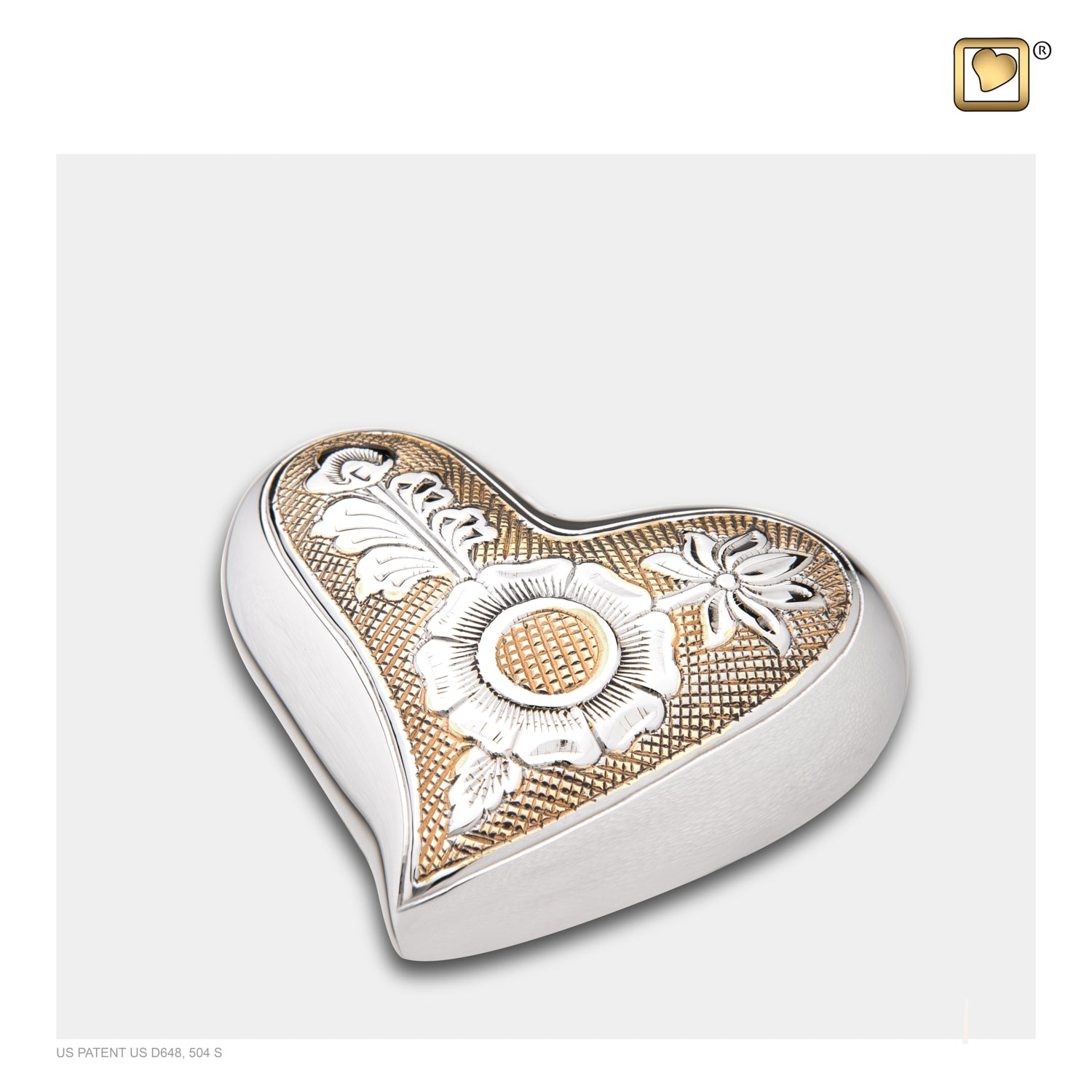 Heart Ornate Floral Cremation Urn