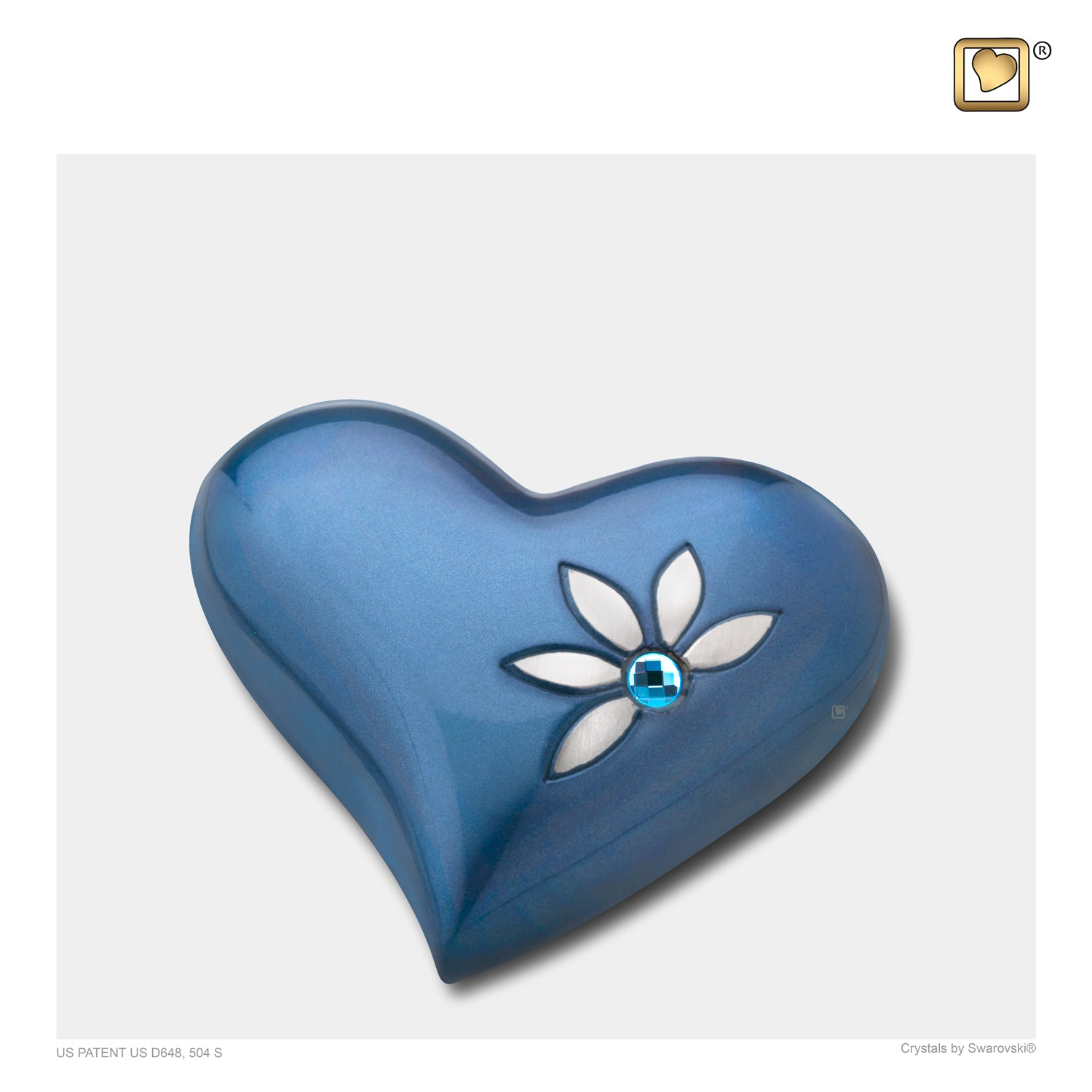 Heart Nirvana Azure Cremation Urn