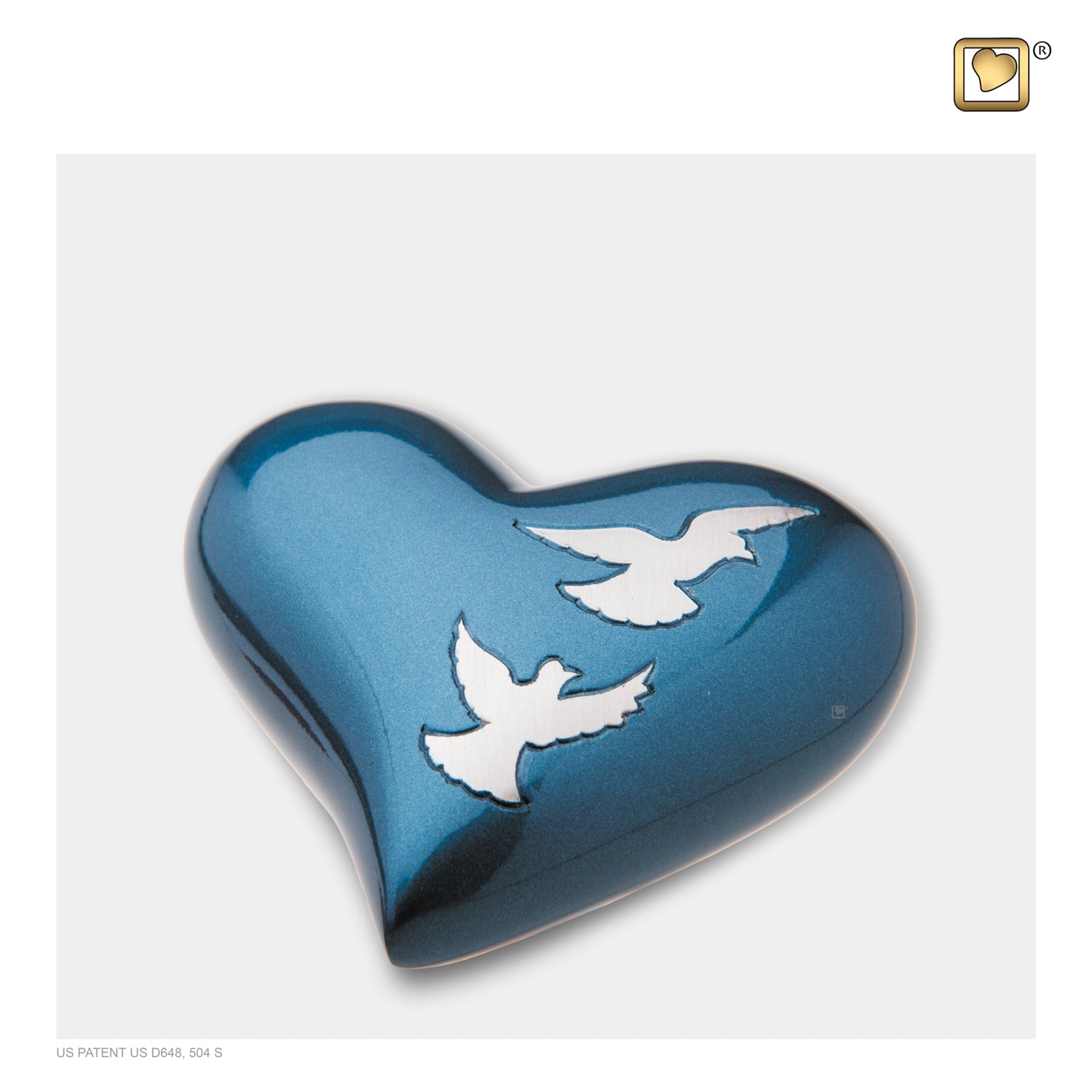 Heart Flying Doves Cremation Urn