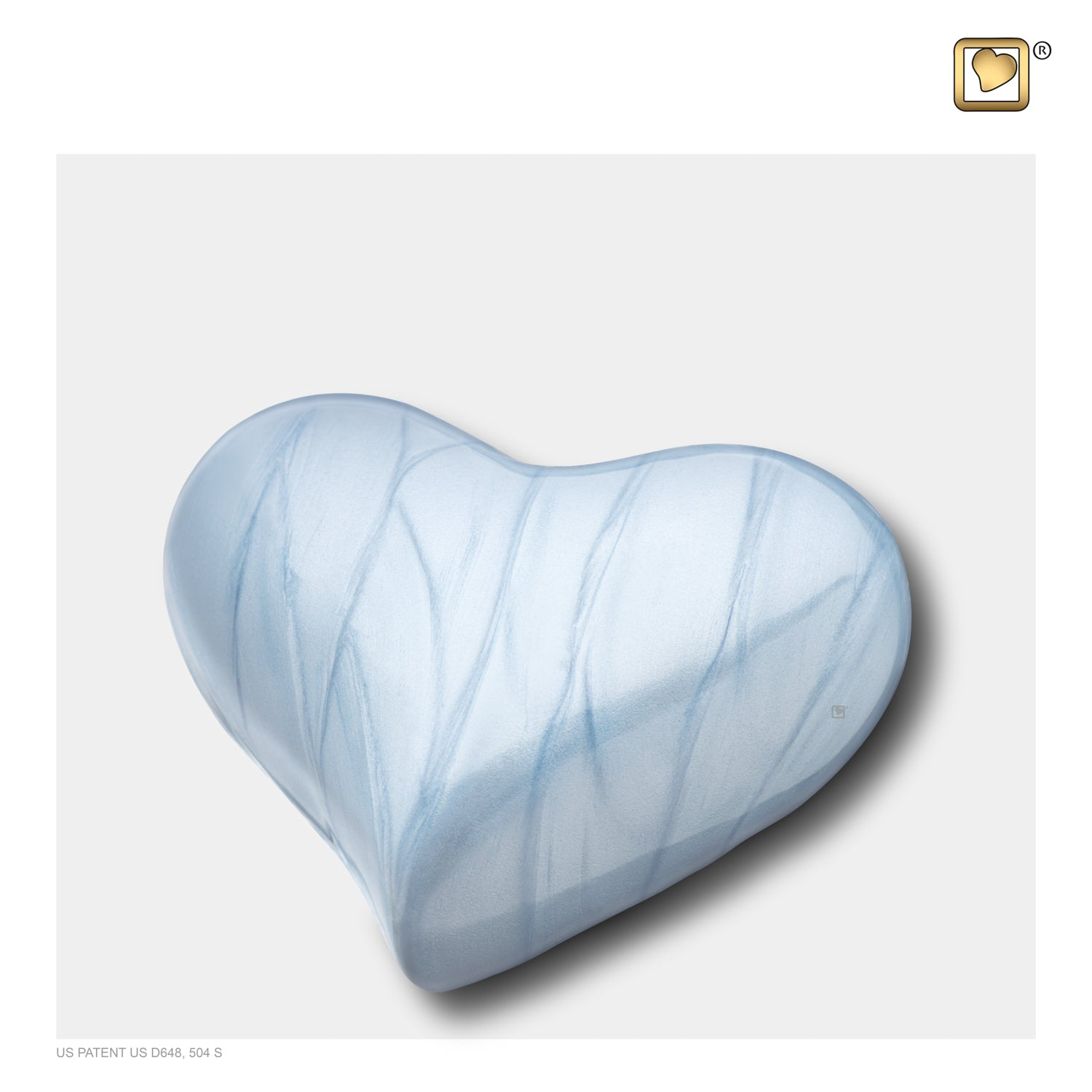 Heart Pearl Blue Keepsake Cremation Urn