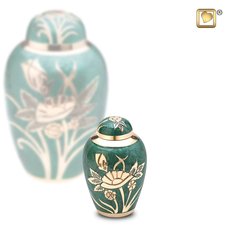 Keepsake Emerald Rose Cremation Urn
