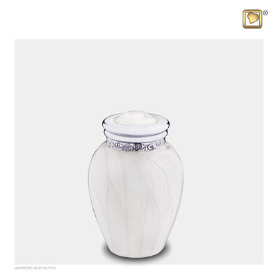 Keepsake Blessing Pearl Silver Cremation Urn