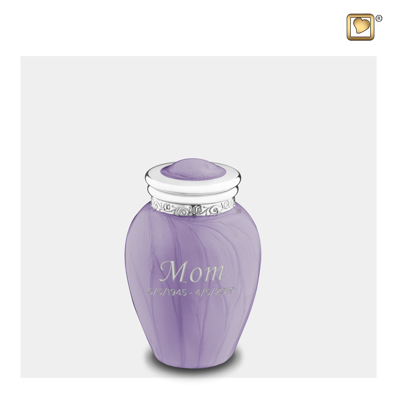 Keepsake Blessing Pearl Lavender Cremation Urn