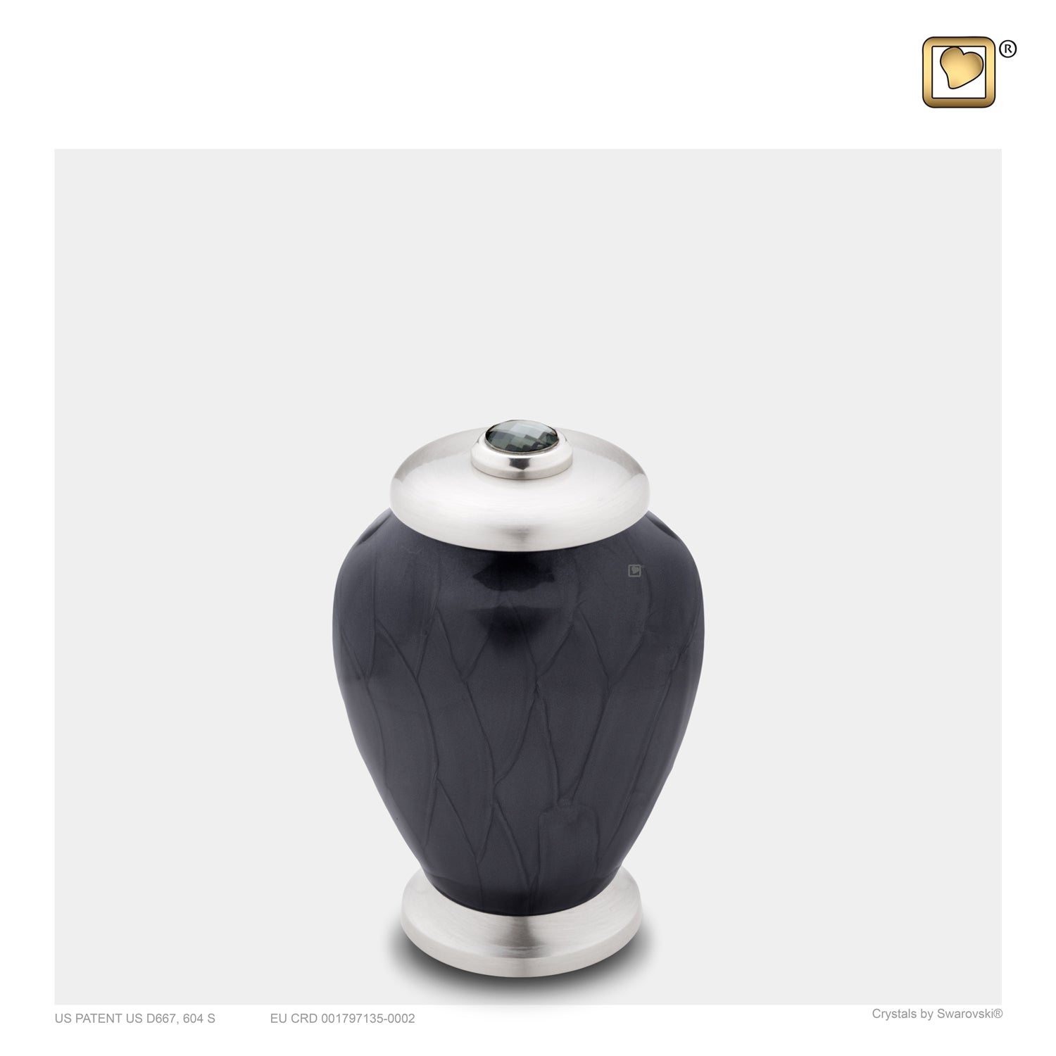 Keepsake Tall Simplicity Midnight Pearl Cremation Urn