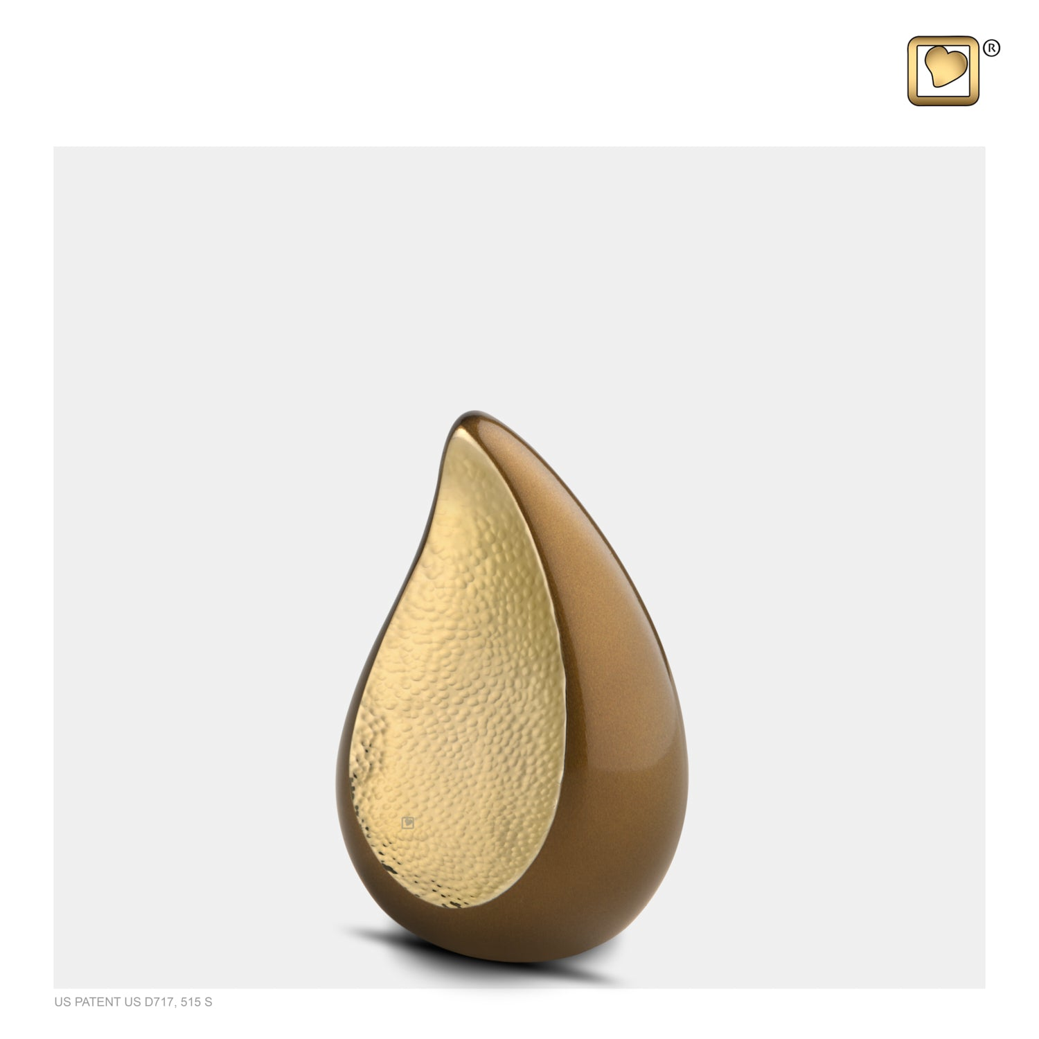 Keepsake  TearDrop Hammered Gold Bronze Cremation Urn