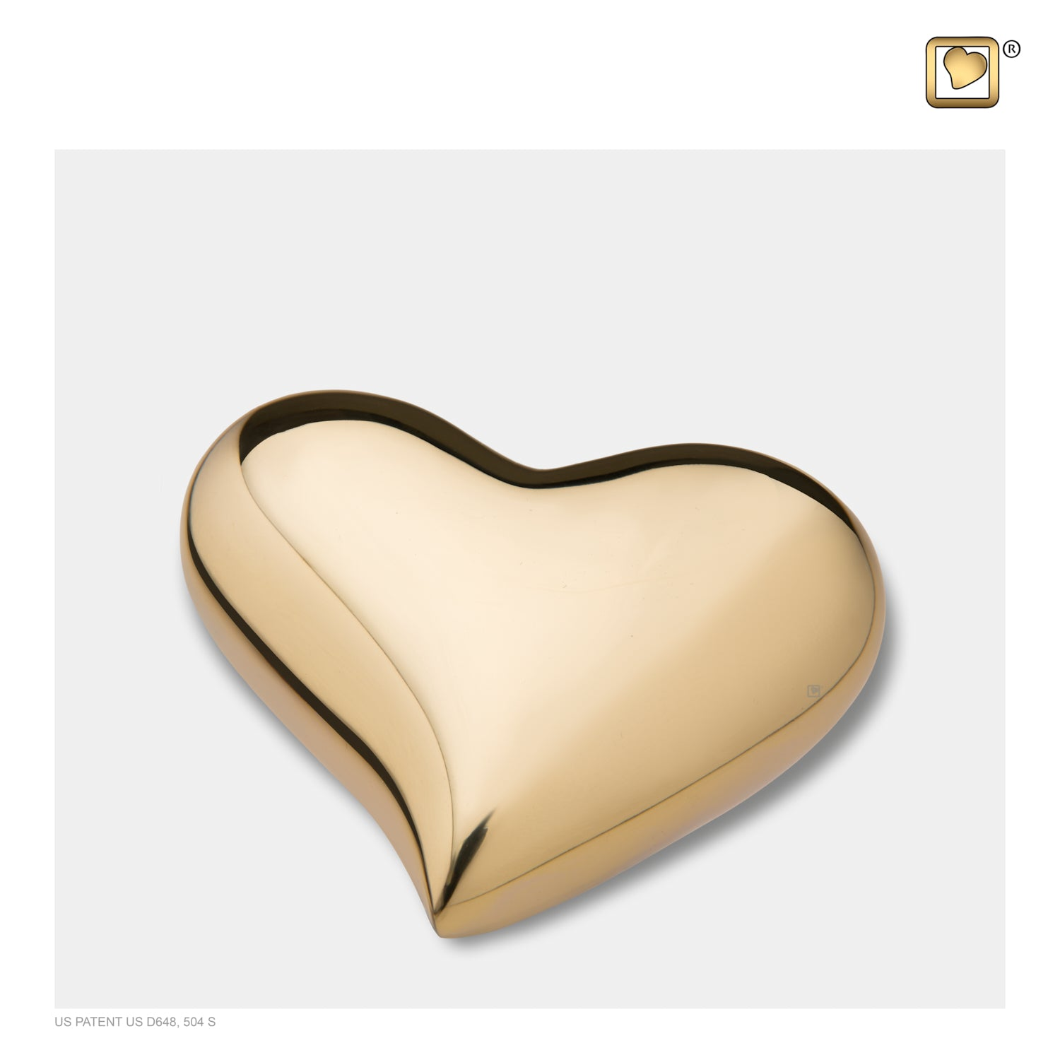 Heart Bright Gold Cremation Urn