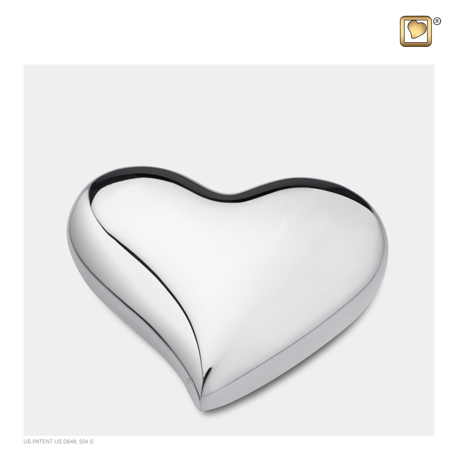 Heart Bright Silver Cremation Urn