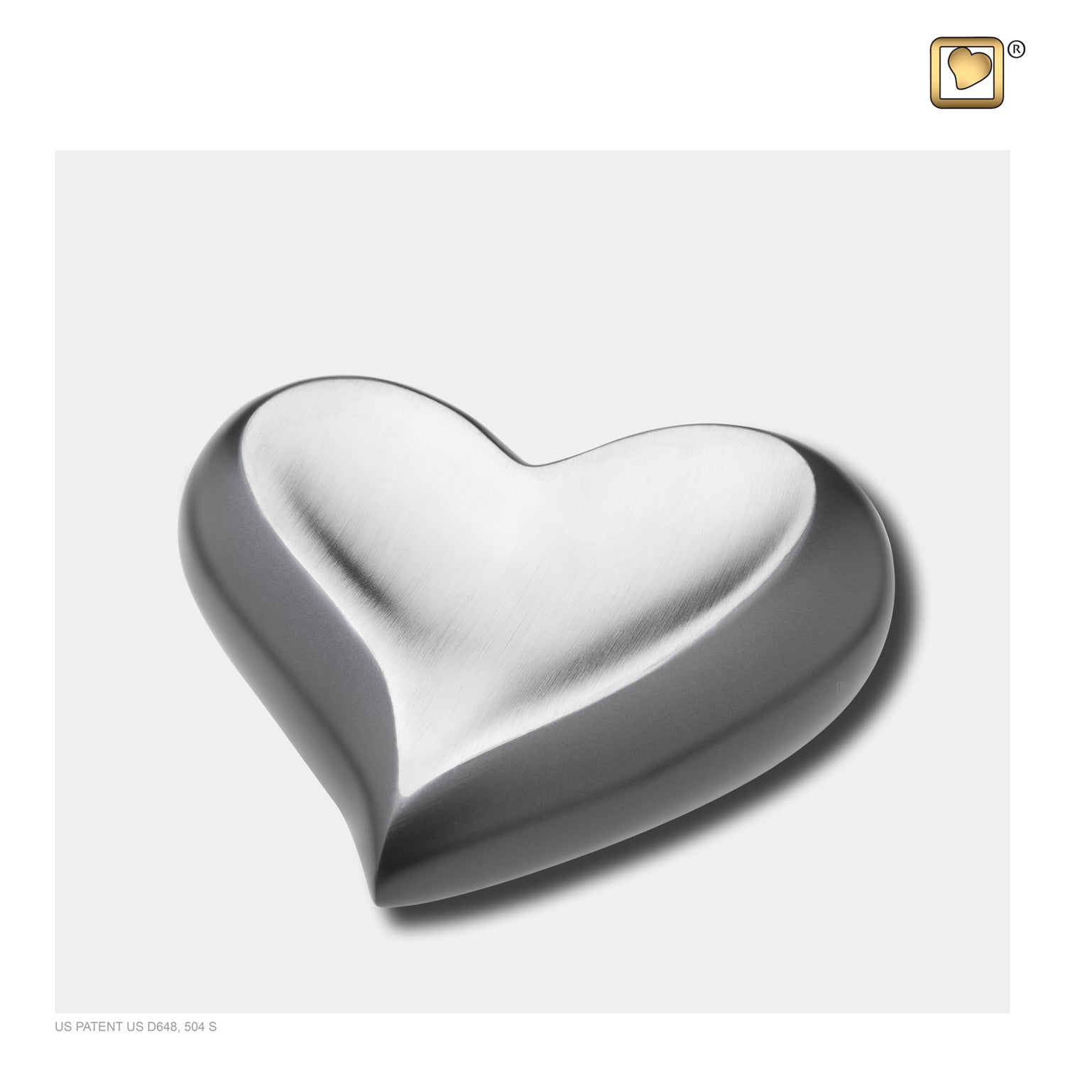 Heart Slate Pewter Cremation Urn
