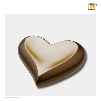 Heart Auburn Gold Cremation Urn