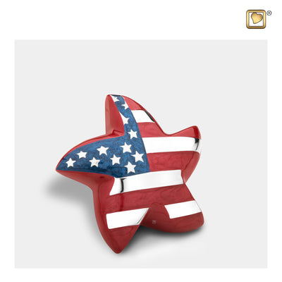 Star Keepsake Stars & Stripes Cremation Urn
