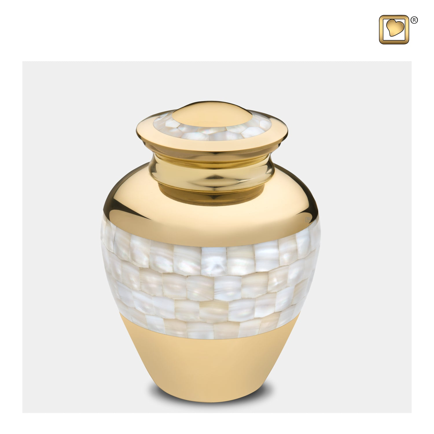 Medium Mother of Pearl Cremation Urn