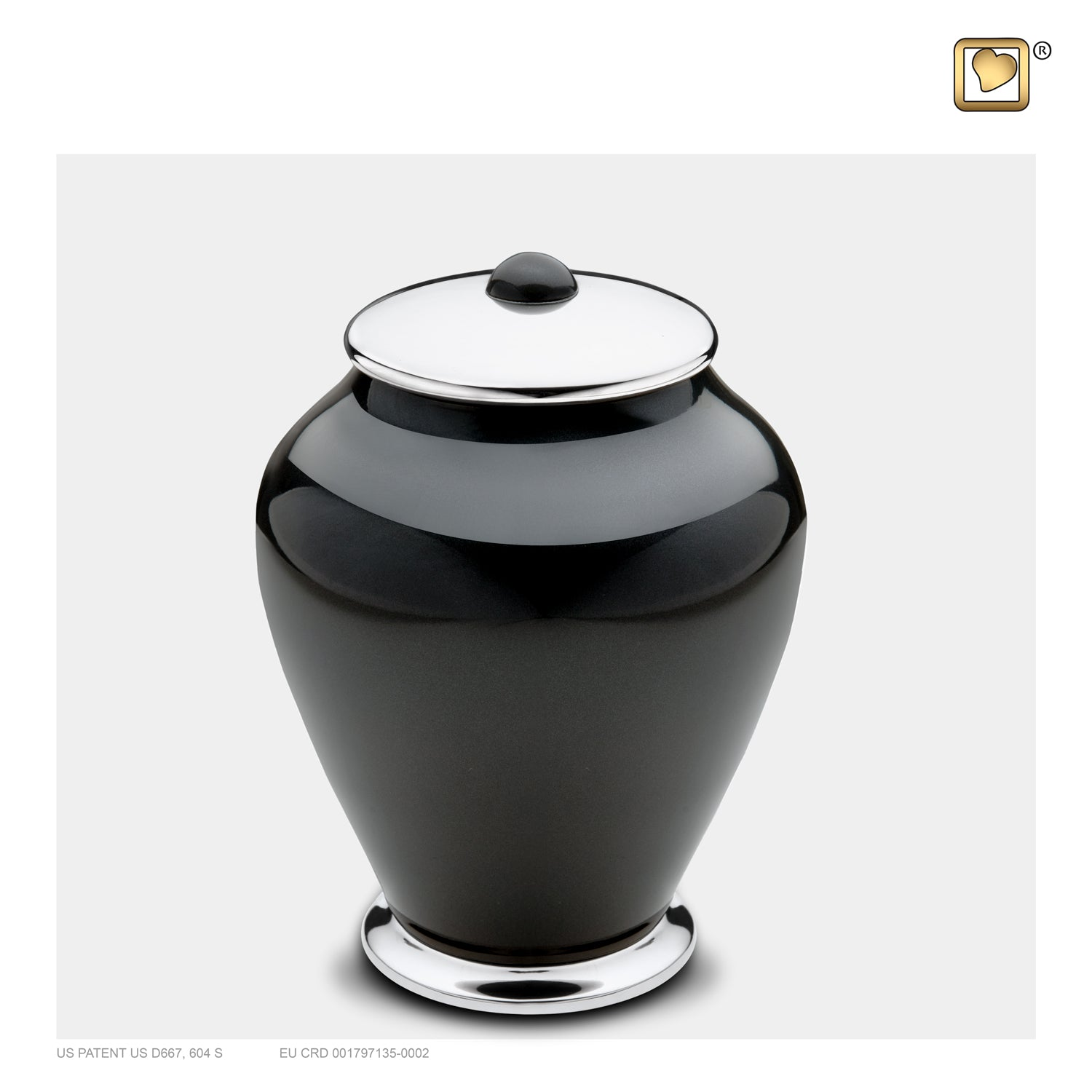 Medium Tall Simplicity Midnight Cremation Urn