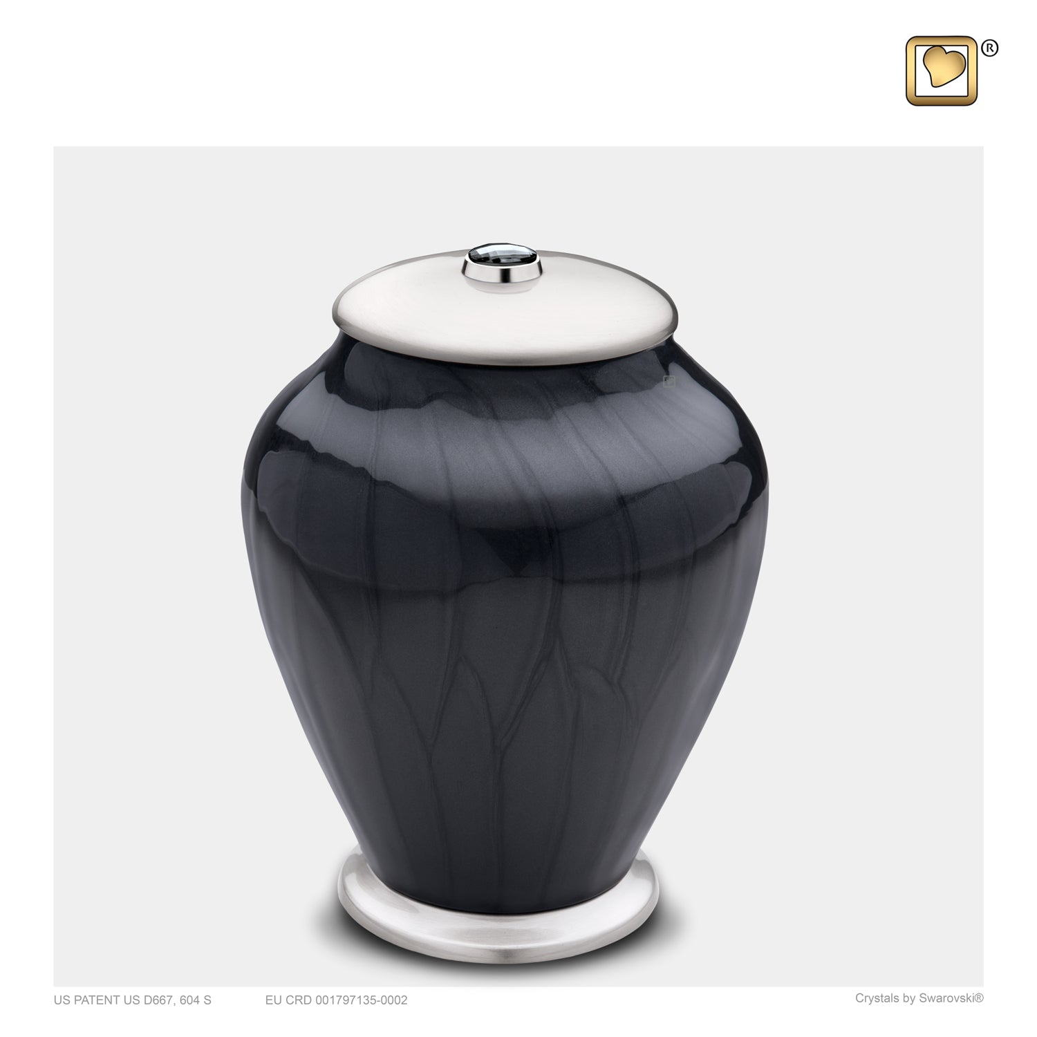 Medium Tall Simplicity Midnight Pearl Cremation Urn