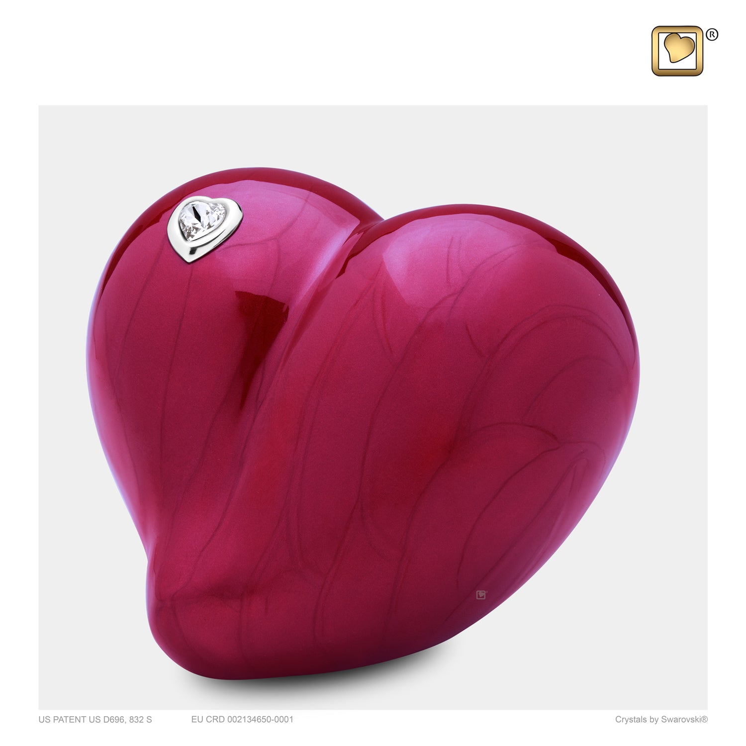 Medium LoveHeart Cremation Urn