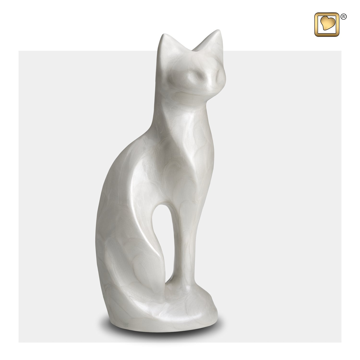 Cat White Pet Urn