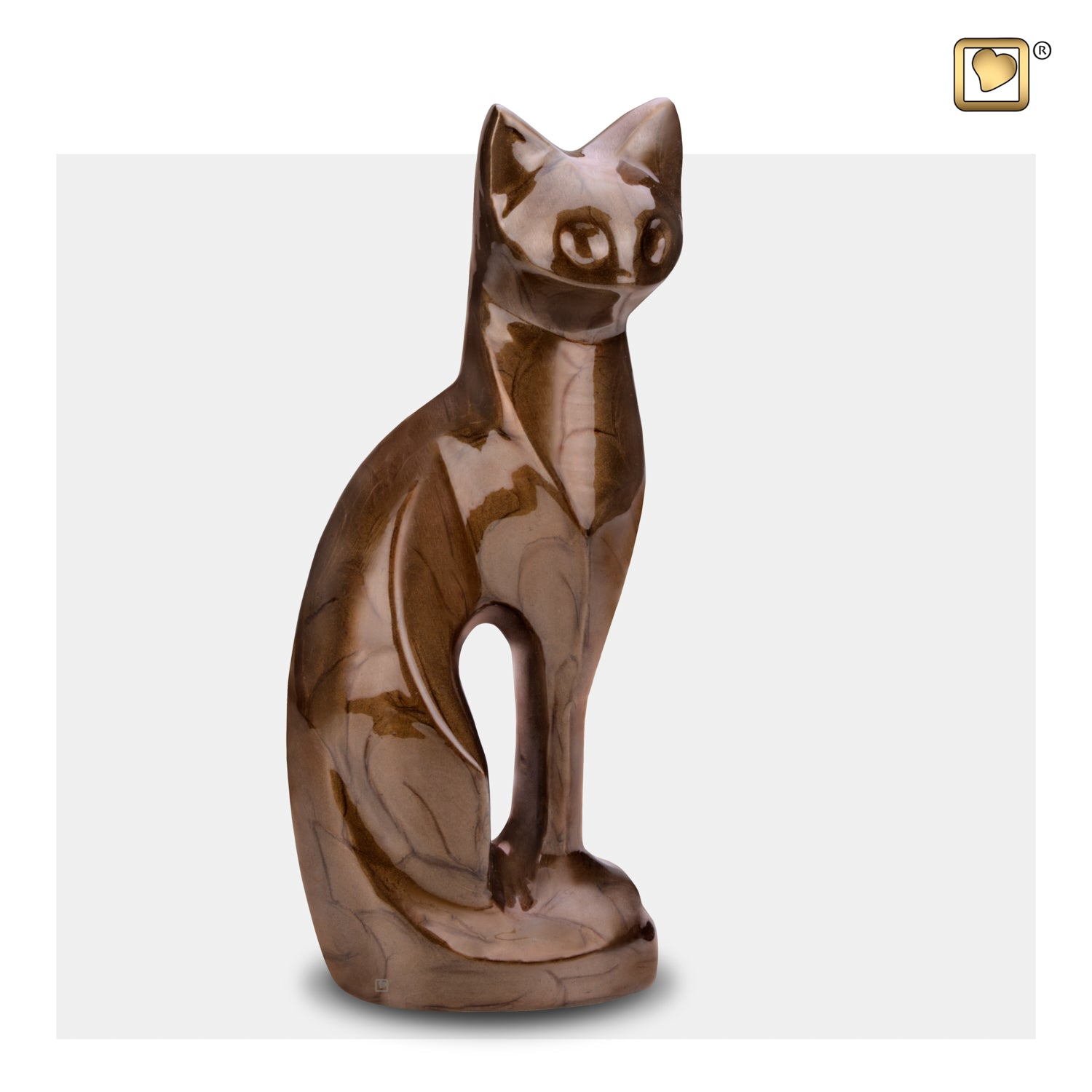 Cat Bronze Pet Urn