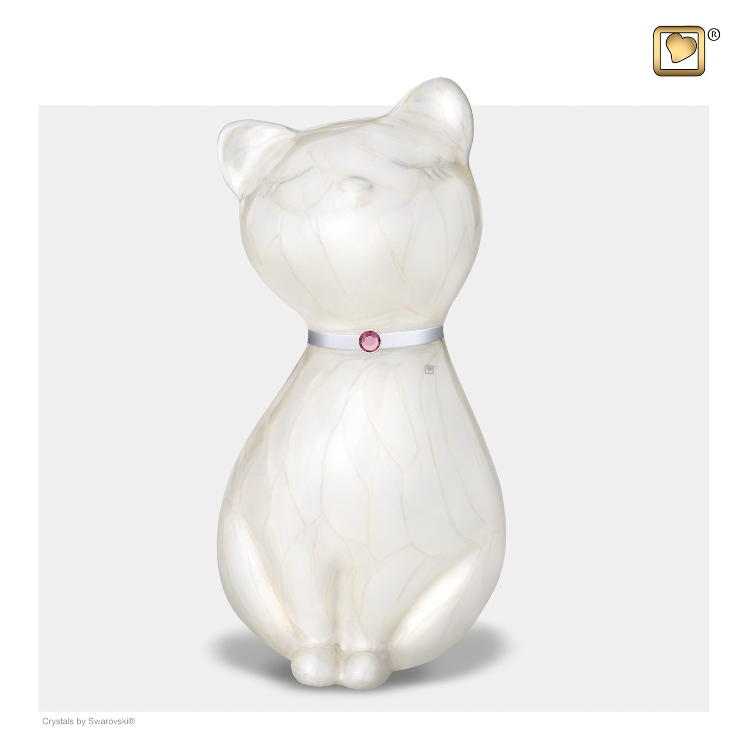 Princess Cat White Pet Urn