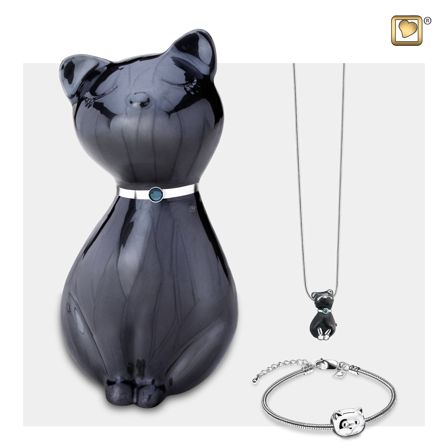 Princess Cat Midnight Pet Urn