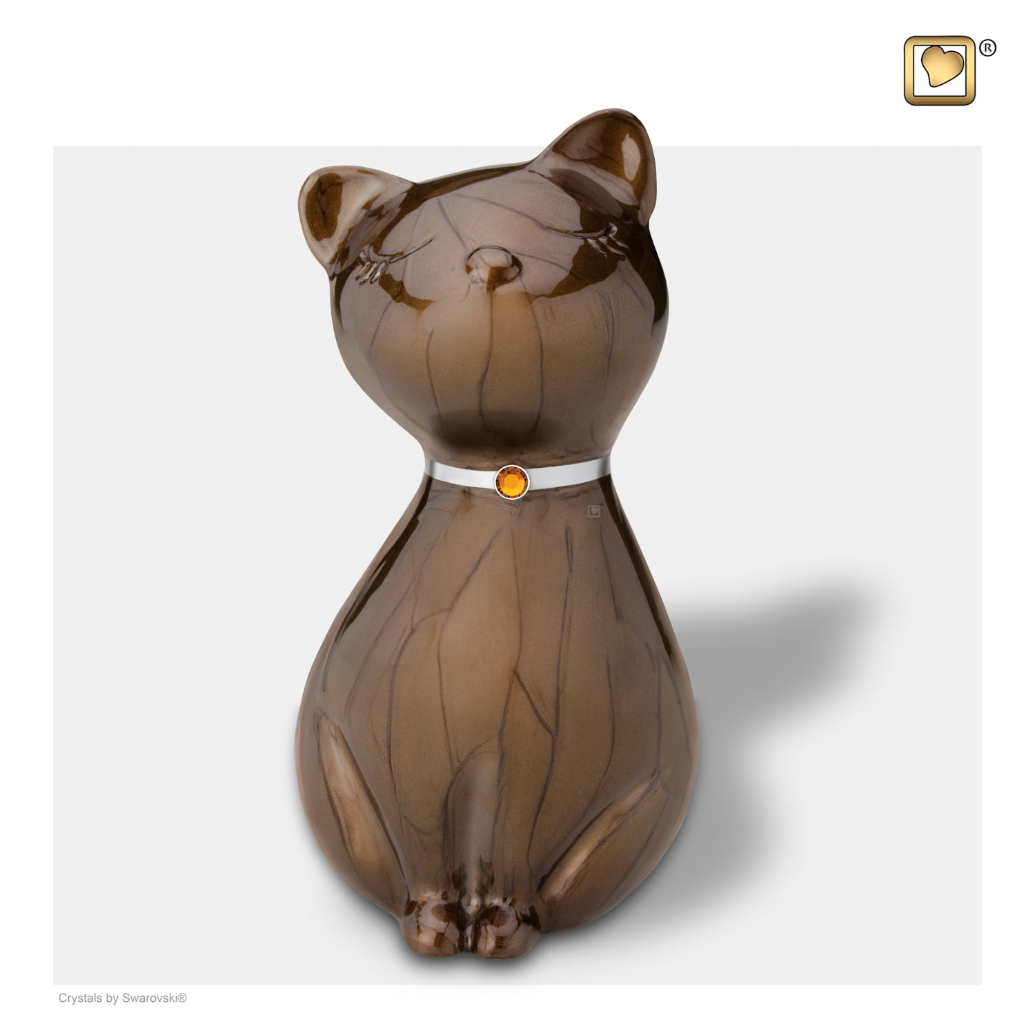 Princess Cat Bronze Pet Urn