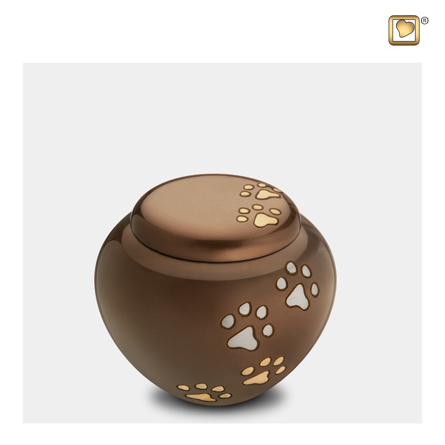 Bronze Cuddle Small Pet Urn