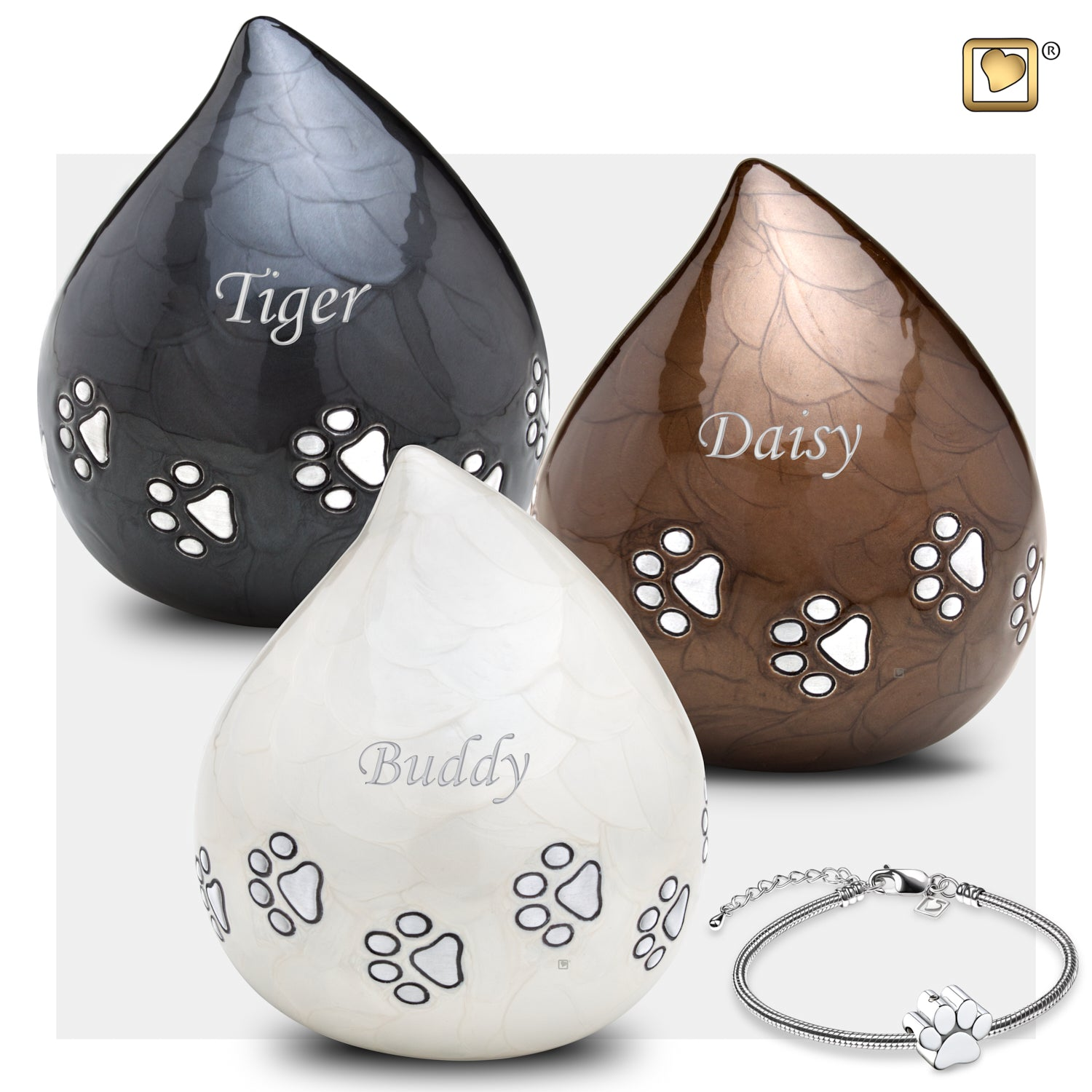 LoveDrop Pet Bronze Urn
