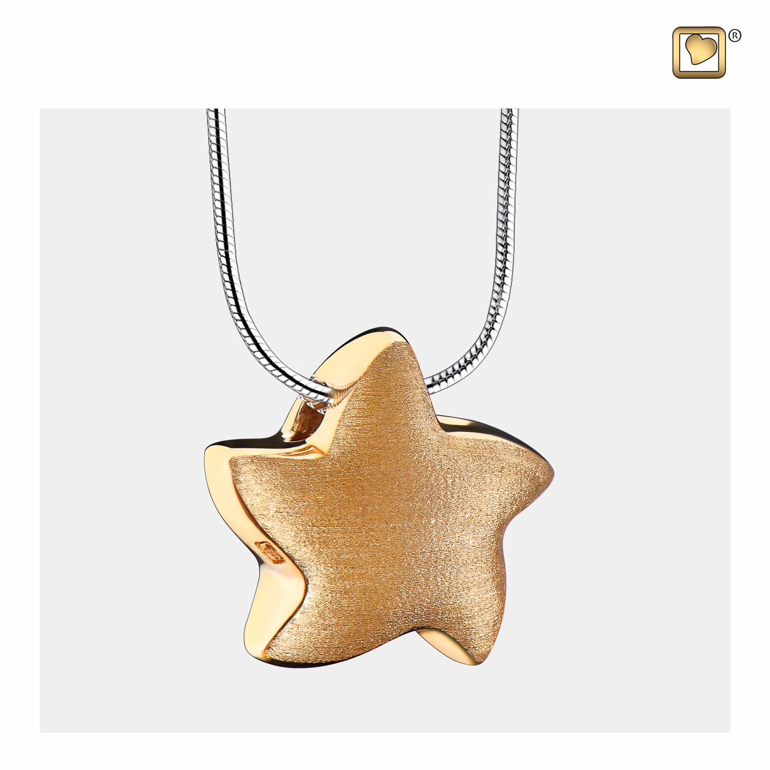 Sterling Silver Angelic Star Gold Vermeil Two Tone  Cremation Jewelry for Ashes - Pendant