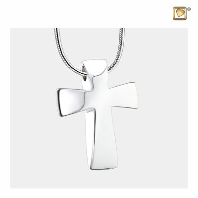 Sterling Silver Cross Cremation Jewelry for Ashes - Pendant