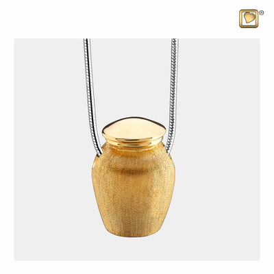 Sterling Silver Urn Gold Vermeil Two Tone Cremation Jewelry for Ashes - Pendant