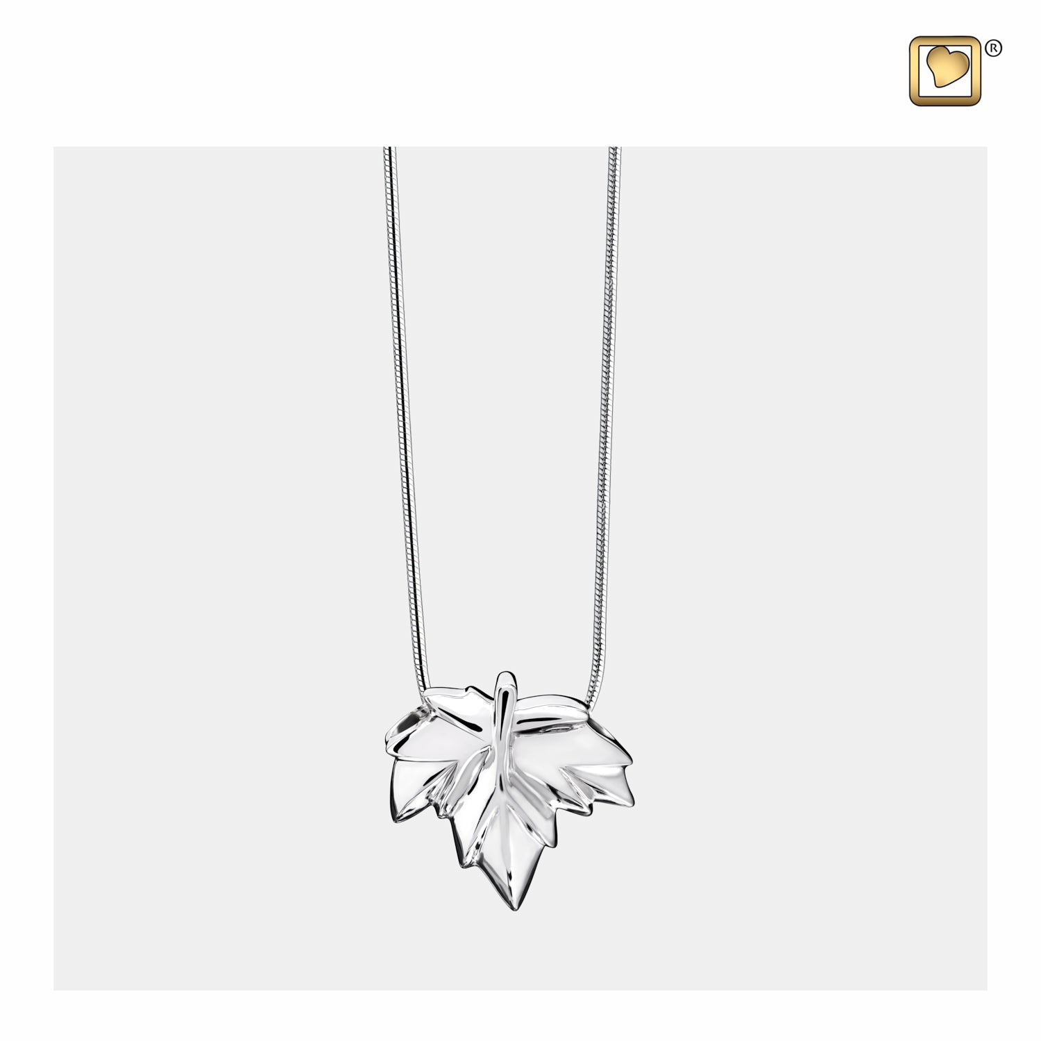 Sterling Silver Pendant Autumn Leaf jewelry for ashes