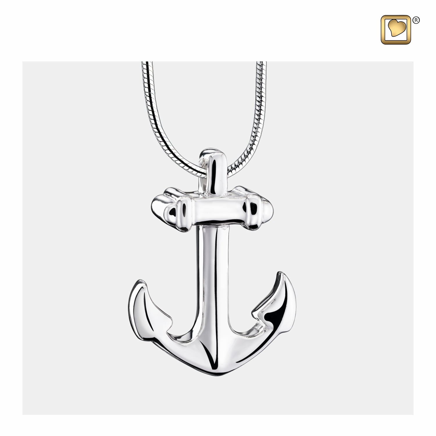 Sterling Silver Pendant Anchor jewelry for ashes