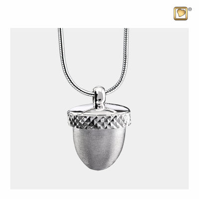 Sterling Silver Pendant Acorn Two Tone jewelry for ashes