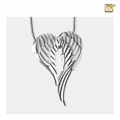 Sterling Silver Pendant Angel Wings Two Tone jewelry for ashes