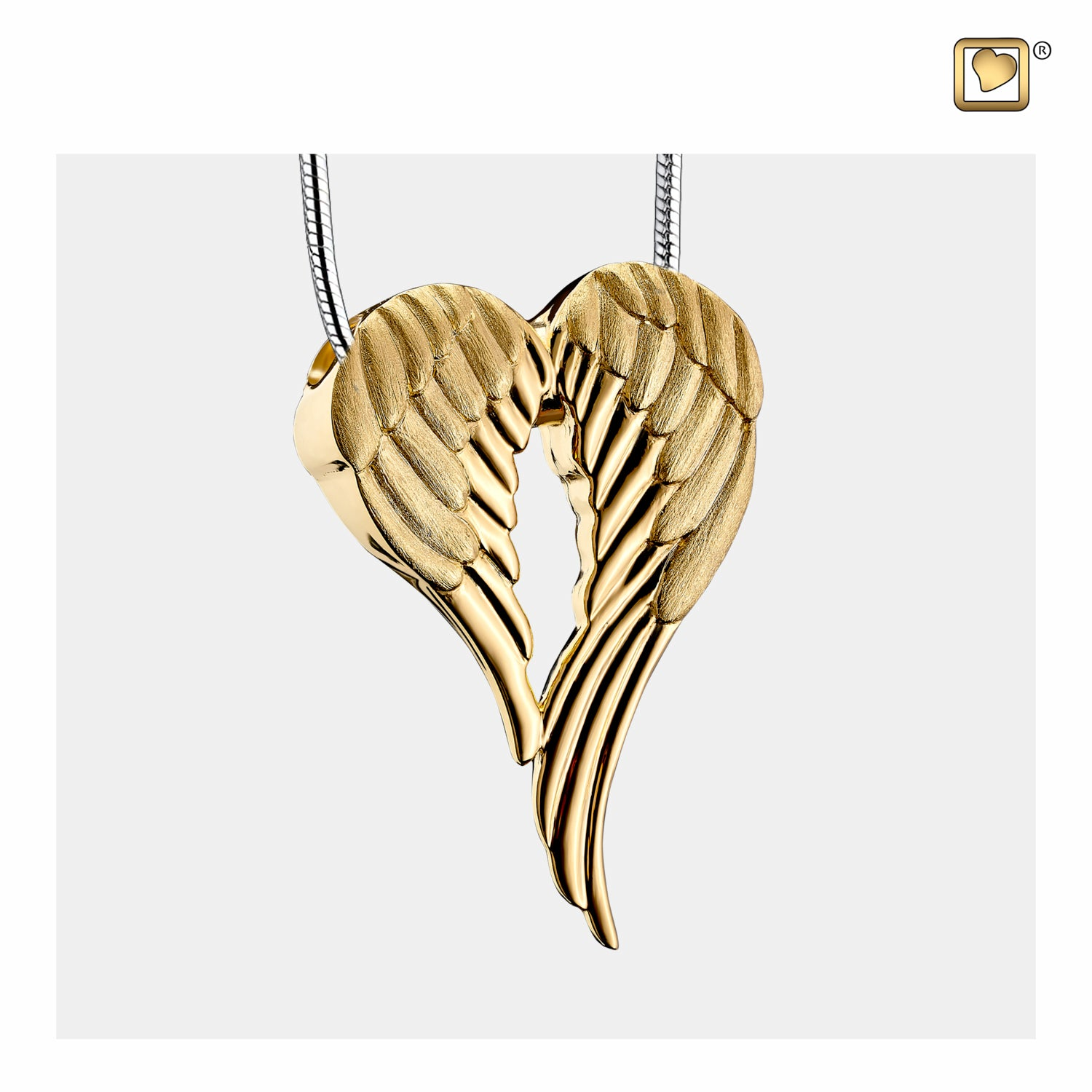 Sterling Silver Pendant Angel Wings Gold Vermeil Two Tone jewelry for ashes