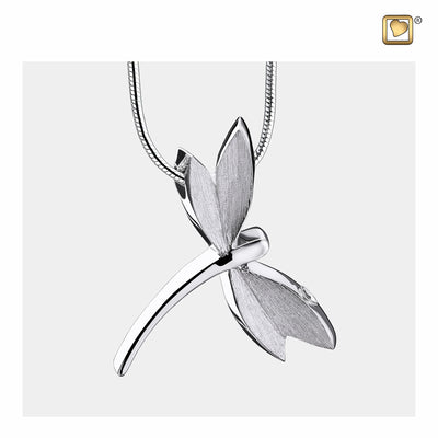 Pendant Dragonfly Two Tone Cremation Jewelry for ashes