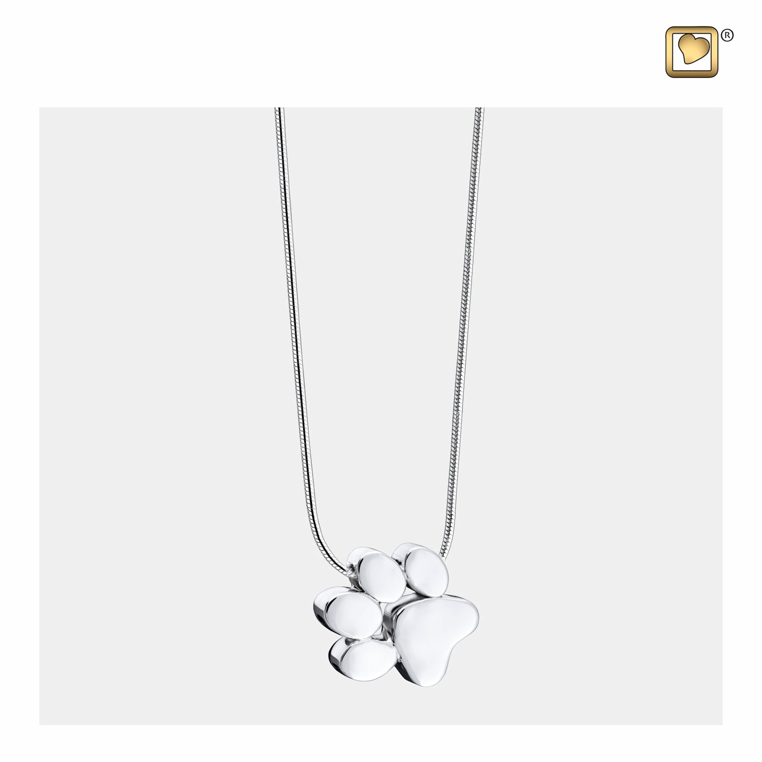 Paw Pendant Sterling Silver Jewelry for ashes