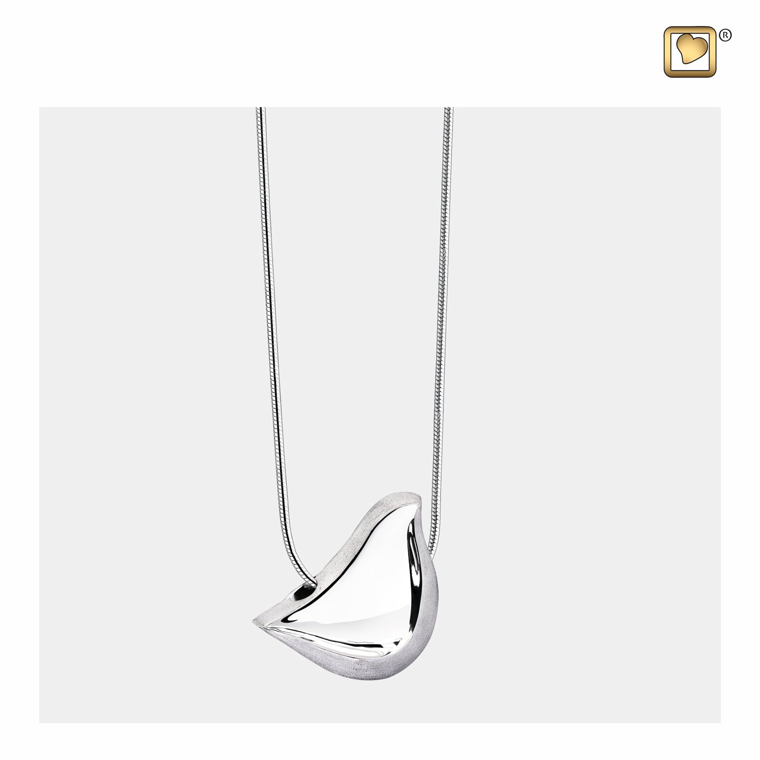 Sterling Silver Pendant LoveBird Two Tone jewelry for ashes