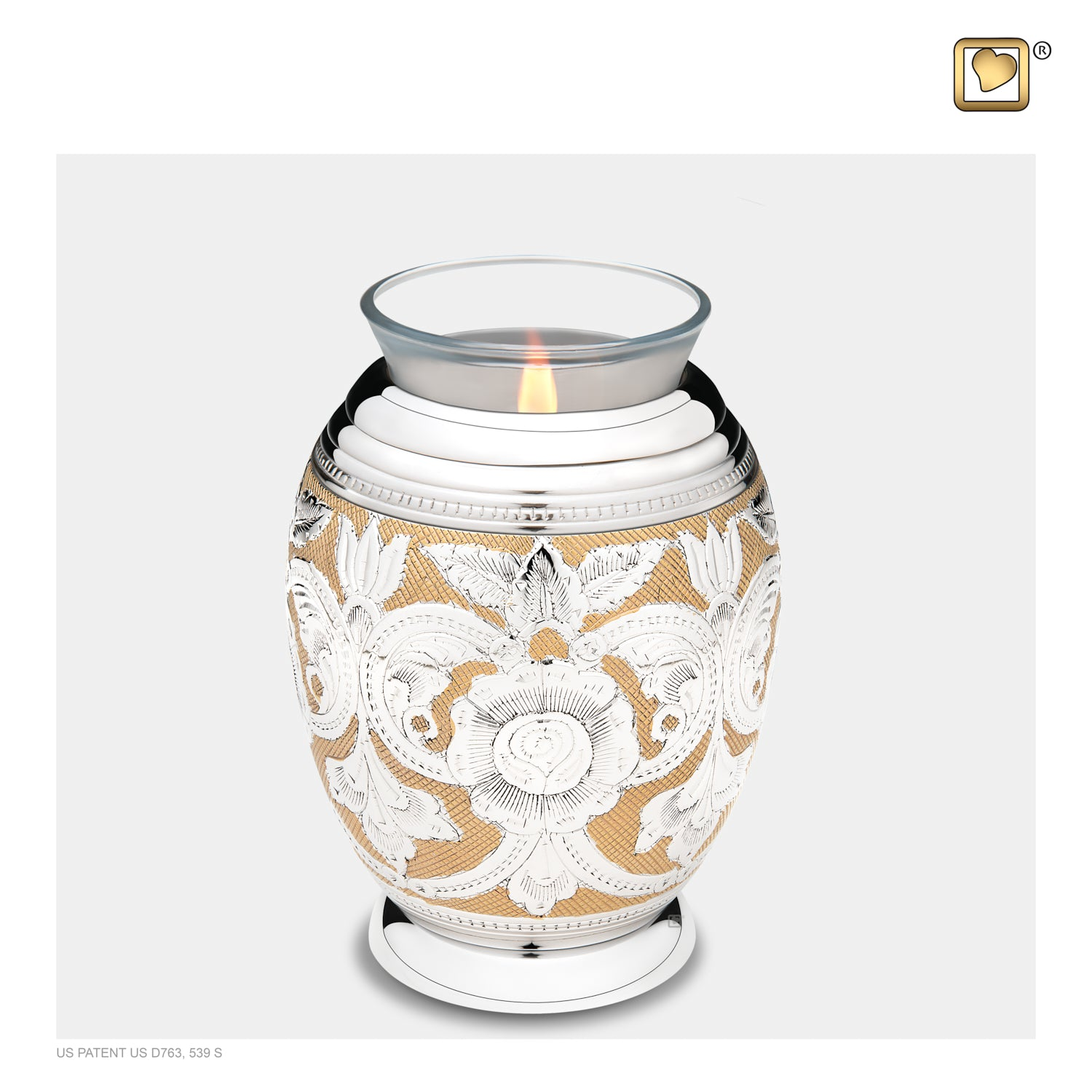 Tealight Ornate Floral Cremation Urn