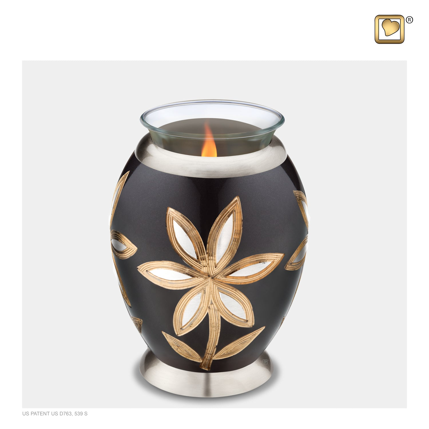 Tealight Lilies Cremation Urn