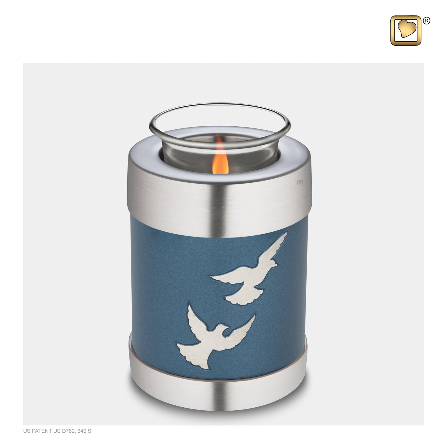 Tealight Flying Doves Cremation Urn