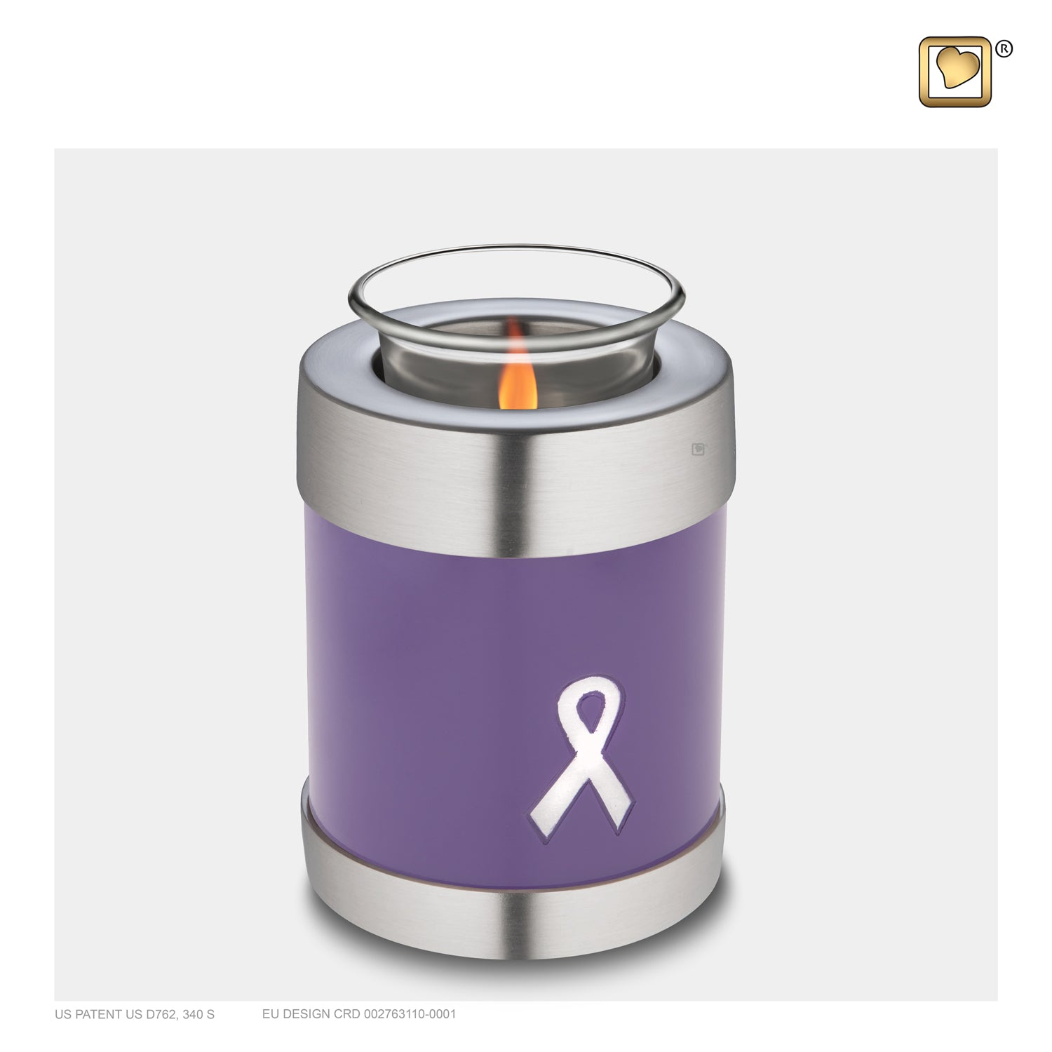 Tealight Awareness Purple