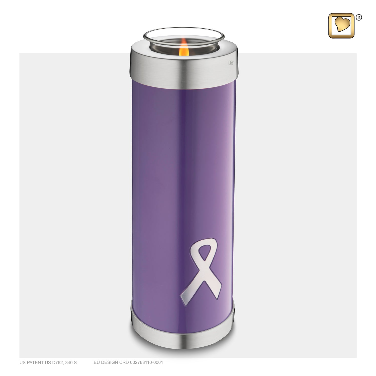 Tealight Tall Awareness Purple