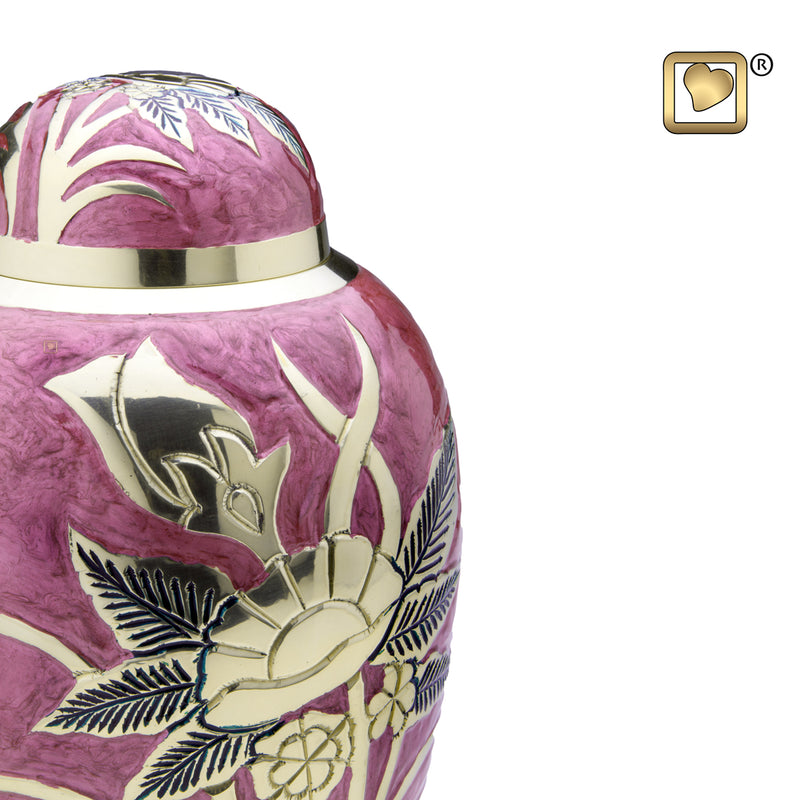 Adult Lilac Rose Cremation Urn
