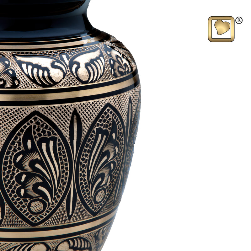 Adult Black & Gold Cremation Urn